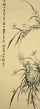 """JAPANESE HANGING SCROLL """"Orchid""""  @u161"""