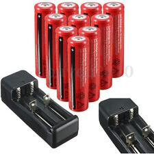 10X 18650 42000mAh 3.7V Li-ion Batterie Rechargeable Battery Flashlight Chargeur