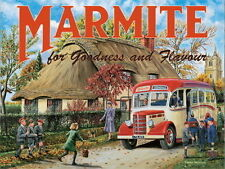 Marmite, Cottage Classic Bedford Coach Advertising picture Mini Metal/Steel Sign