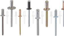 50 4,8x15  Edelstahl Blindniete Mehrbereich Flachkopf A2/A2 POPNIETE 6,5-10,0mm