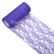 """Lace on a Roll 6"""" x 10yard Runner Wedding Table Runner Vintage Style Party Decor"""