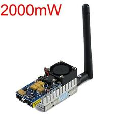 long distance 5.8G 8 Ch 2000mW FPV Wireless Audio Video Transmitter AV Sender 2W