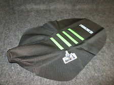 Kawasaki KX65 KLX110 Black/Green enjoy ribbed gripper seat cover EJ3024