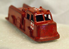 Vintage Midgetoy Fire Truck with Stickers, Rescue Unit. Unusual & Rare