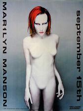 MARILYN MANSON - MECHANICAL ANIMALS - ORIGINAL ROCK PROMO POSTER (1998)