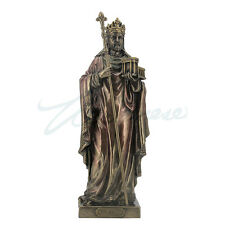 """King Solomon With A Model Of The """"First Temple"""" bronze figure statue home decor"""