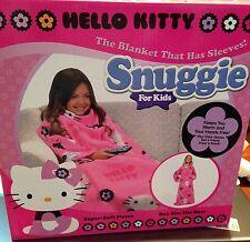 Hello Kitty Blanket Snuggie Girl Pink Fleece Throw Slumber SANRIO NEW BOX Gift