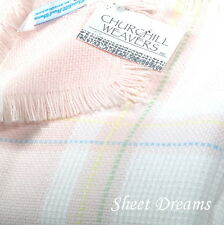 Churchill Weavers Handwoven 100% Acrylic Pink Multi Plaid Baby Blanket New Tags
