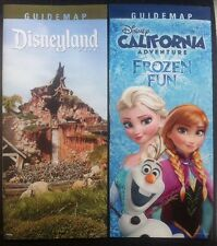 Disneyland & California Disney Guide Maps Spring 2015 Set Frozen Splash Mountain