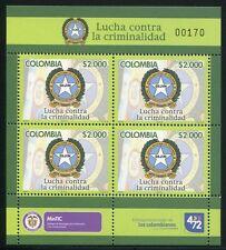 Colombia Colombia 2013 POLIZIA POLICE criminalità DIJIN STEMMA ** MNH