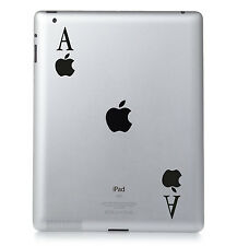 APPLE PLAYING CARDS. Apple iPad Mac Macbook Sticker Vinyl decal. Custom colour