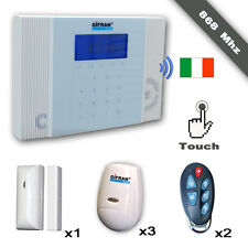 Antifurti 868 senza fili GSM Kit allarme Wireless professionale manuale italiano