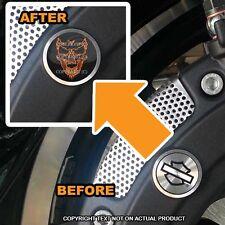 Brembo Front Brake Caliper Insert Set For Harley - BURNING SKULL - 099
