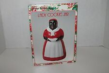 Fine Ceramic Lady Cookie Jar Hand Painted