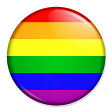 "Gay Pride Rainbow Flag 25mm 1"" Pin Badge Button LGBT"