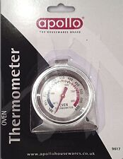 Stainless Steel Oven Cooker Thermometer Temperature Gauge Quality 300º-600ºF New