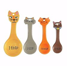 NEW Boston Warehouse Frisky Business Cat Measuring Spoon Set of 4