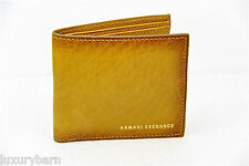 ARMANI EXCHANGE A|X 100% LEATHER and AUTHENTIC WALLET 8 CC 2 PAPER MONEY SLOT