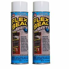 Flex Seal 14-Ounce As Seen on TV Liquid Rubber Sealant in a Can, Brite (2 Pac...