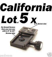 5 X Clamp and QR Quick Release Plate for Tripod Ball Head Camera KS-1 Adapter