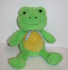 "Animal Adventure Easter FROG 10"" Green Yellow Plush Gingham Bow Stuffed Soft Toy"