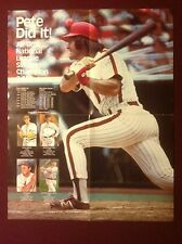 Pete Rose Baseball Poster Pete Did It! - All Time NL Singles Champion 2427