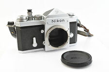Nikon F 35mm Film Camera Body w/Eye Level Prism Finder, Body Cap & Strap (V4180)