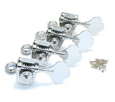 Grover Vintage Bass Machine Heads, Set of 4-In-Line, Chrome Finish, 142C4