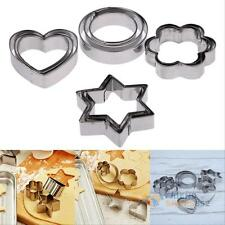 12Pcs Set Stainless Steel Cookie Fondant Cake Mould Mold Fruit Vegetable Cutter