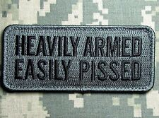 HEAVILY ARMED EASILY PISSED 2ND AMENDMENT ACU DARK BADGE VELCRO® BRAND PATCH