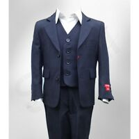 ITALIAN DESIGN PAGE BOYS SUIT IN NAVY BLUE  DINNER, WEDDING, PARTY, AGE 1 TO 16