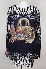NEW WOMEN  TUNIC size  20/22  TOP LONG SLEEVE SEQUINS BLOUSE  LADIES   4318
