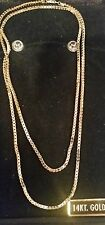 "14k yellow gold polished box link necklace,  24""L,  5.5 grams"