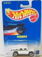 HOT WHEELS HOT WHEELS HUMMER #188 WHITE POLICE 1992 MOC DIECAST