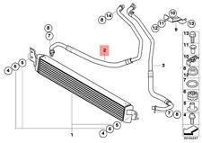 Genuine BMW E90 E92 E93 M3 Engine Oil Cooler Flow Pipe OEM 17222284077