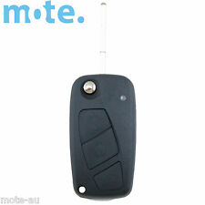 Fiat 3 Button Flip Key Remote Case/Shell/Blank Punto Bravo Stilo Black
