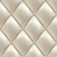 Wallpaper Grandeco Exposed leather chesterfield style 3D cream PE-01-01-4 (2,16£
