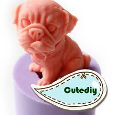Soap Mold 3D Dog Puppy Flexible Silicone Mould For Resin Candle Candy Craft