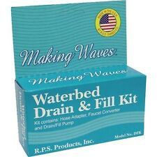 MAKING WAVES WATERBED DRAIN AND FILL KIT - ADAPTER, CONVERTER, AND PUMP