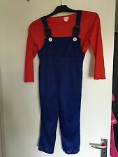 Boys 4-5 Years Super Mario Fancy Dress Costume