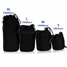 4x Neoprene Waterproof Camera Lens Pouch Case Bag for Canon Sony DSLR S+M+L+XL