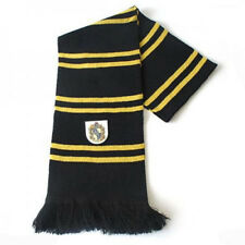 Harry Potter Hufflepuff Thicken Wool Knit Scarf Soft Warm Costume Cosplay