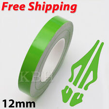 "12mm 1/2"" Pin Stripe Pinstriping Soild Line Tape Vinyl Decal Sticker Car Green"