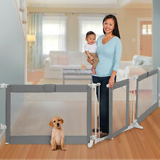 Safety Gate Room Divider Kids Infant Baby Pet Dog Wide Opening Home Play Area