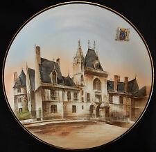 """Grand plat en PORCELAINE DE LIMOGES """"Bourges Palais Jacques-Coeur"""" très bon état"""