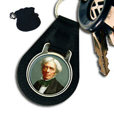 MICHAEL FARADAY ENGLISH SCIENTIST  LEATHER KEYRING / KEYFOB GIFT