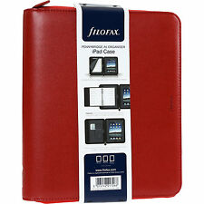 Genuine Filofax Pennybridge A5 Zipped Folio Red Ipad case Organiser New with Tag