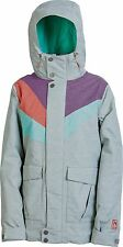 2014 Womens Nitro Perfect Kiss Snowboard Jacket Cloud Purple Watermelon Small