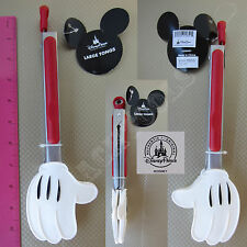 New Authentic Disney Parks Mickey Mouse Glove Tongs Stainless Steel Utensil