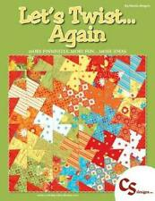 LET'S TWIST.AGAIN~ BY MARSHA BERGREN QUILT BOOK FOR TWISTER RULERS~PINWHEELS